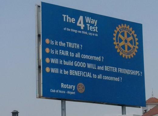Rotary-Werbung einmal anders