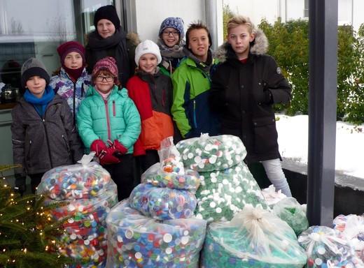 Elfjährige sammelt 75.000 Deckel