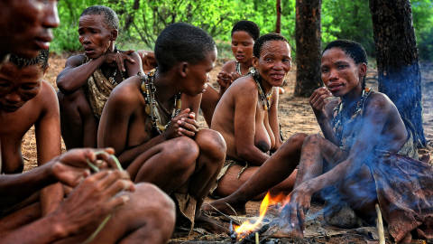 Global Grant für Bushmen in der Kalahari