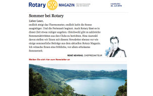 Sommer bei Rotary