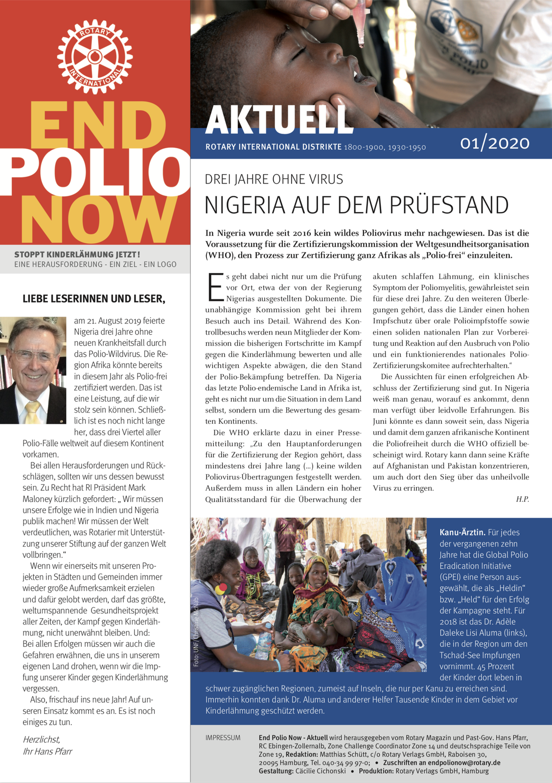 2020, epn, polio, end polio now, kinderlähmung, polio, newsletter, januar