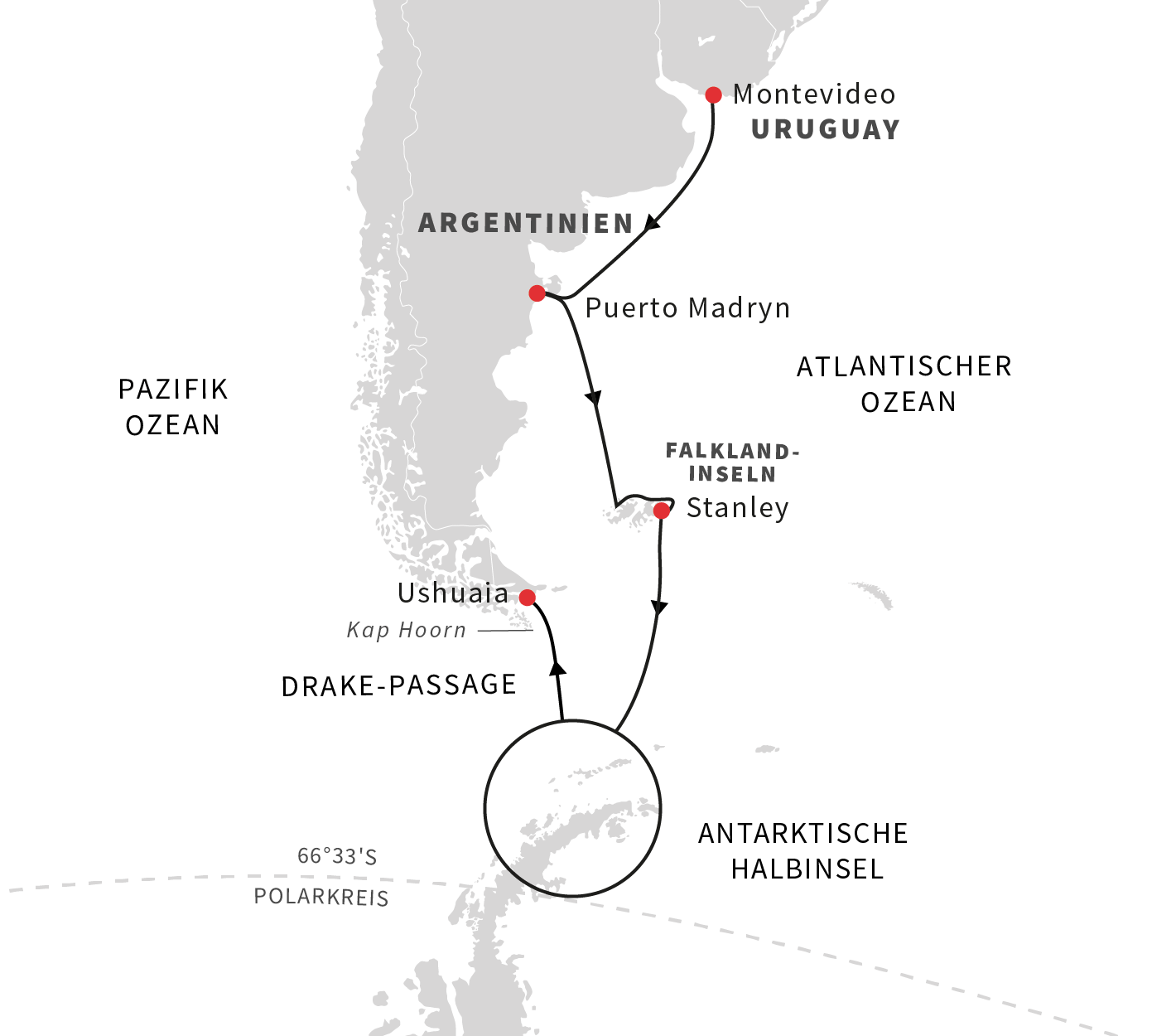Hurtigruten, Map, Karte, Antarktis