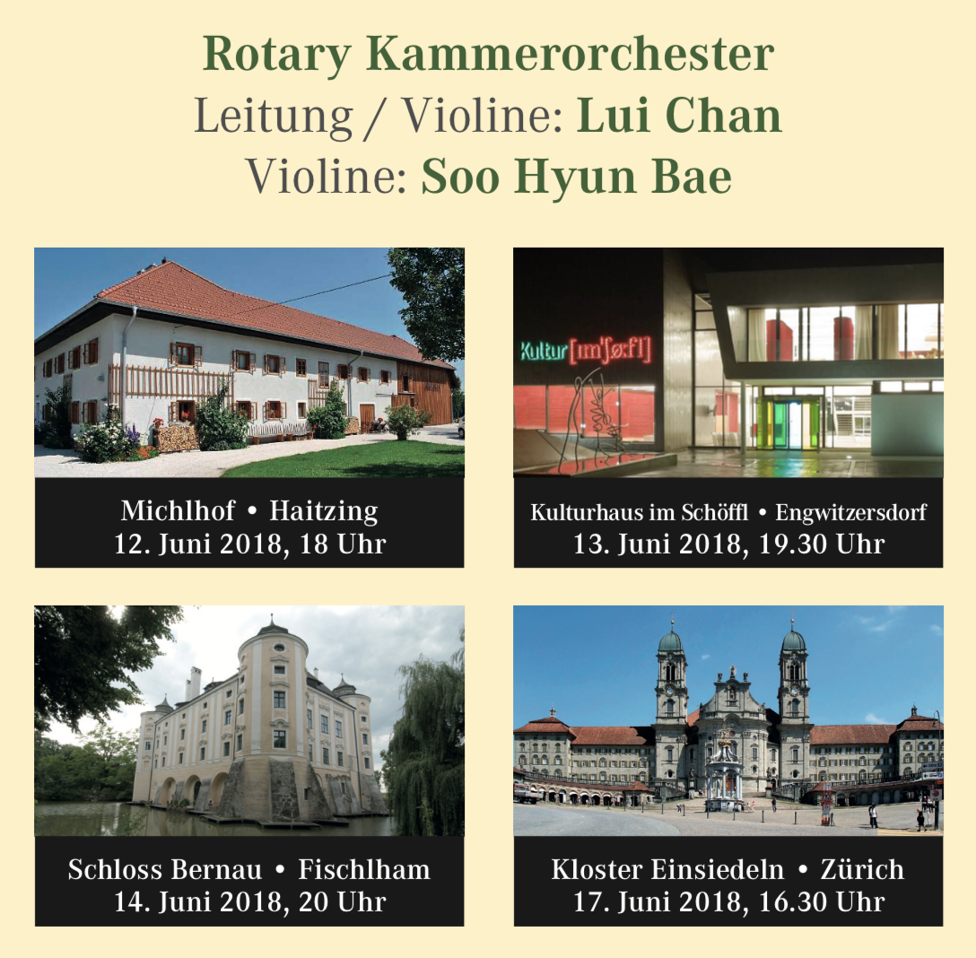 Österreich, Rotary Kammerorchester, Orchester, Lui Chan, Soo Hyun Bae