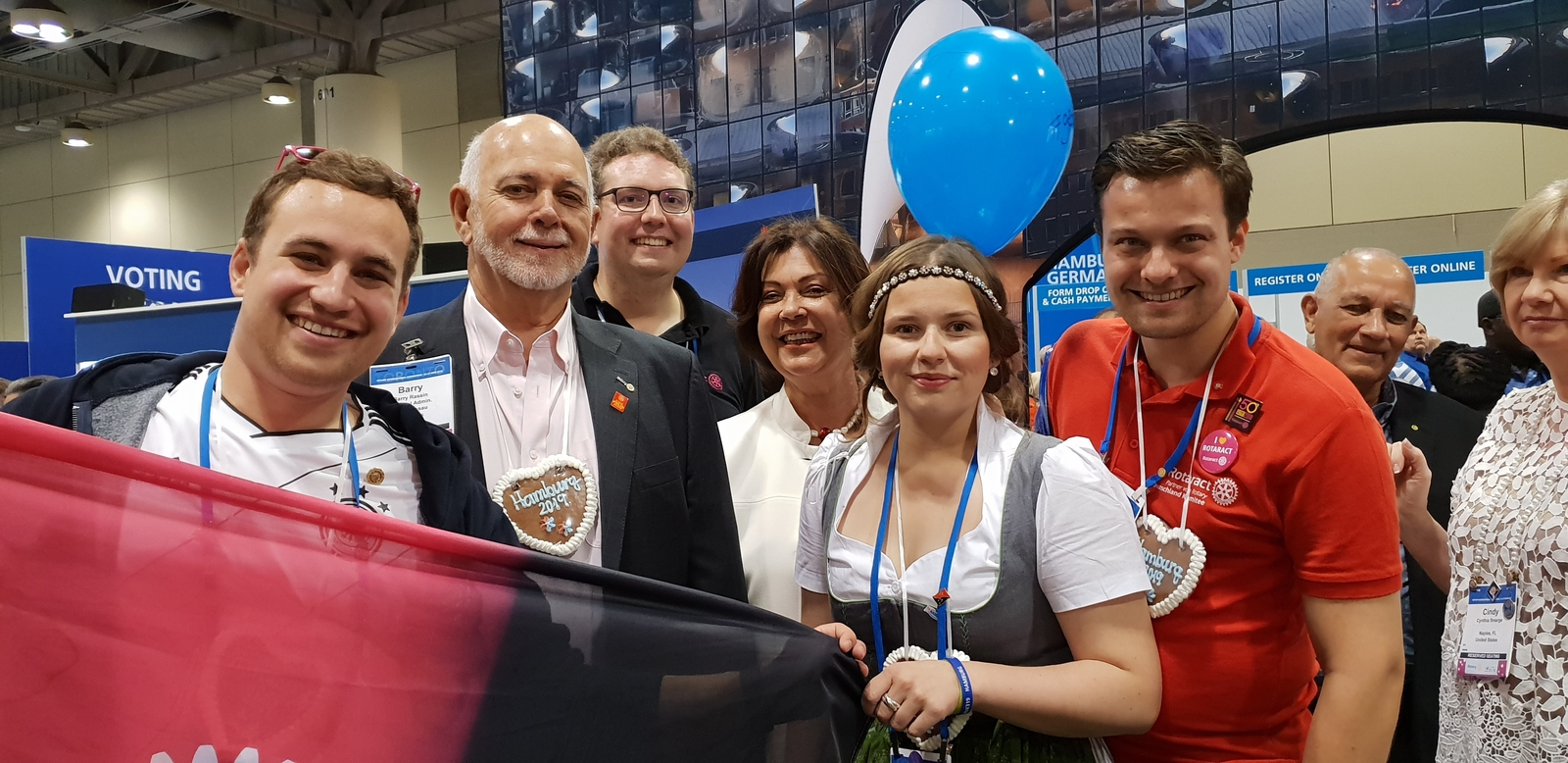 Ambrosius-Eichner,Wimmer, Rotaract, Barry Rassin, Convention, RI-Convention, Toronto