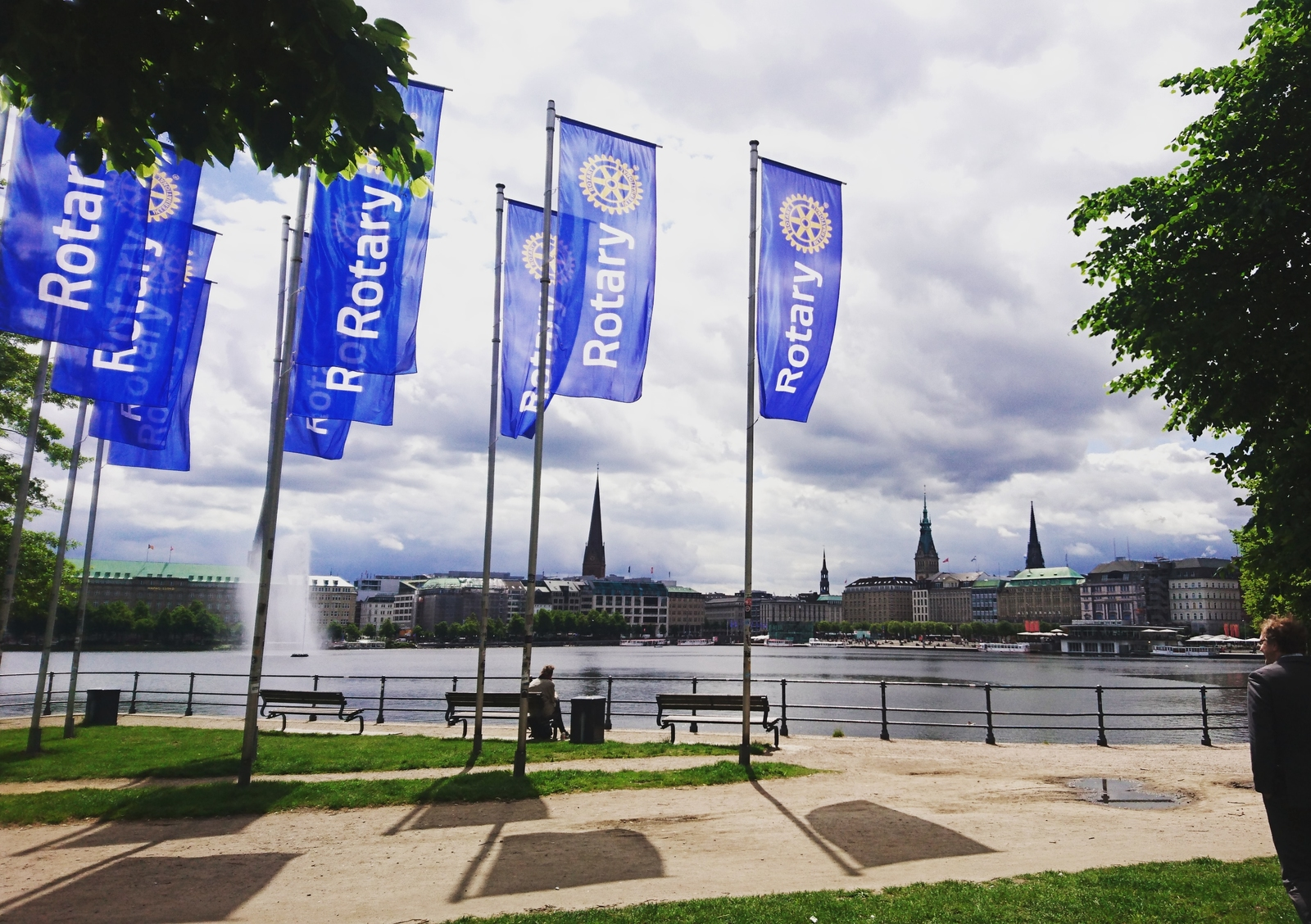 2019, flagge, convention, rotary, hamburg