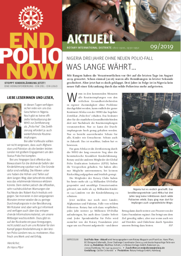 2019, polio, epn, end polio now, kinderlähmung, newsletter, september