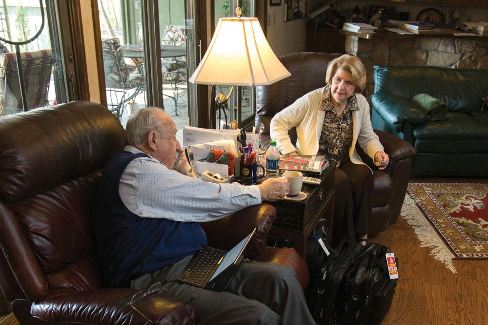 Der RI-Präsident und seine Frau Judy in ihrem Haus in Soddy-Daisy, einem Vorort von Chattanooga. Das Haus hat er selbst entworfen