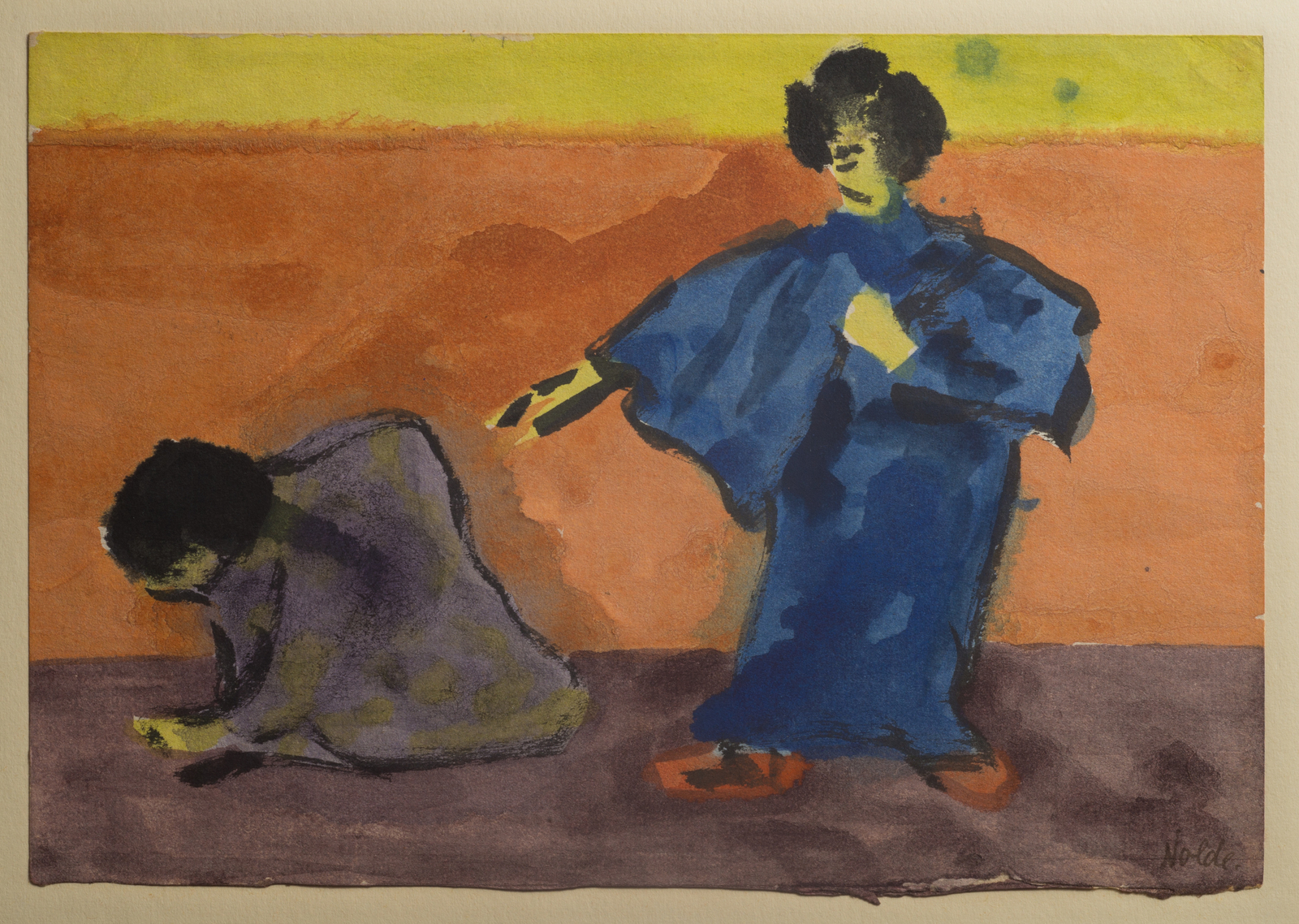 Nolde, Japan, Frauen, Aquarell, Theater
