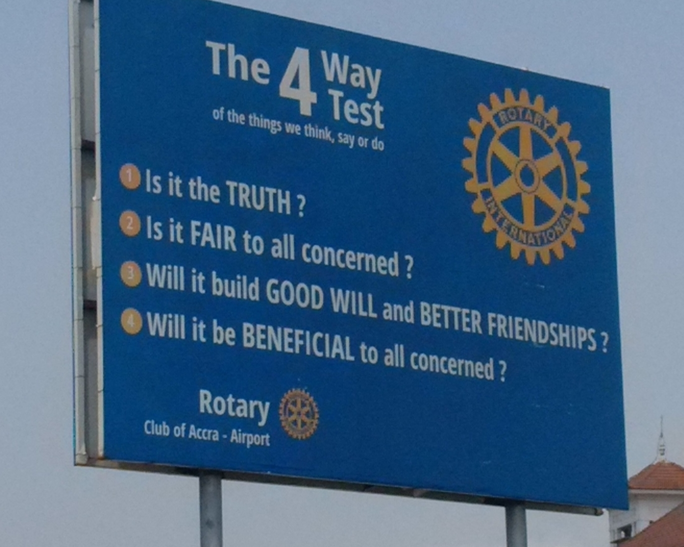 Rotary International, Rotary-Zeichen, Rad, Ghana, Accra