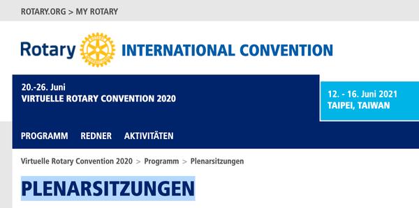 Anmeldung zur Convention