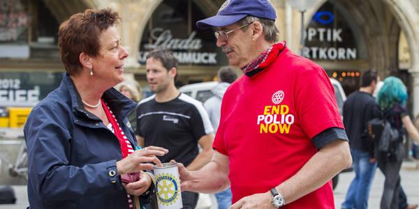 Weiter aktiv werden im Anti-Polio-Kampf