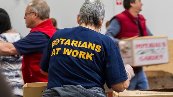 Rotarier packen an